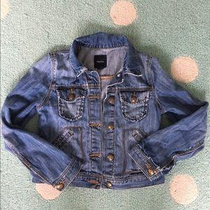 GAP Girls Soft Distressed Denim Jacket